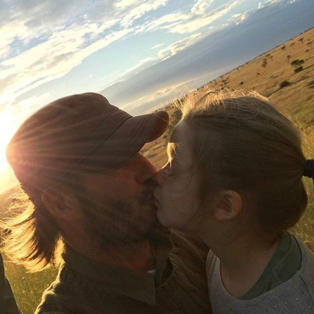 David e Harper: amor de pai e filha.