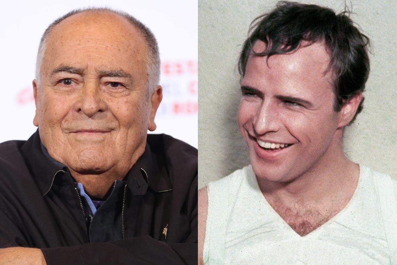 Bernardo Bertolucci e Marlon-Brando