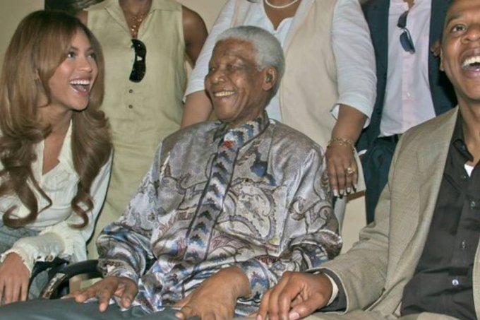 Beyoncé, Nelson Mandela e Jay-Z