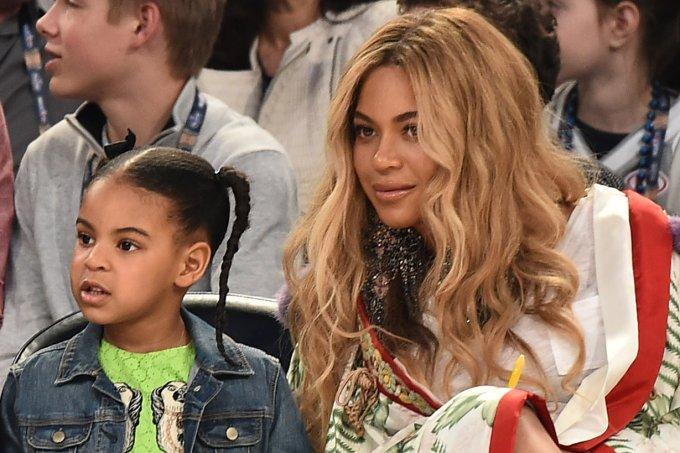 Blue Ivy Carter e Beyoncé Knowles