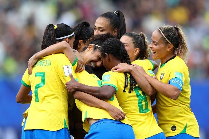 Brasil e Jamaica Copa do Mundo de Futebol Feminino