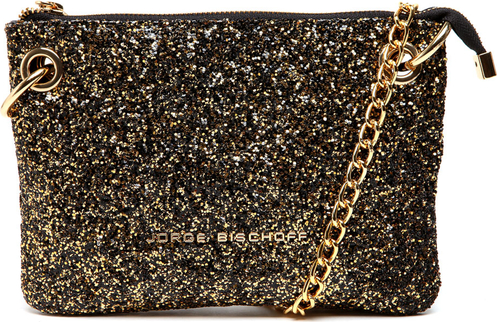 <span>Bolsa </span><strong>Jorge Bischoff</strong><span> Glitter Preta/Dourada - R$ 399,00</span>