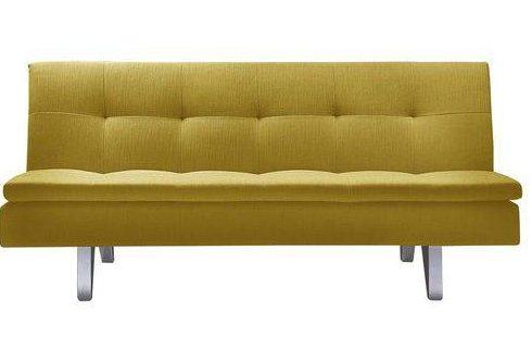 sofá cama Ilha Bela amarelo mostarda