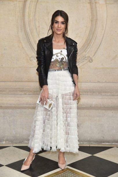 Camila Coelho no desfile da Dior