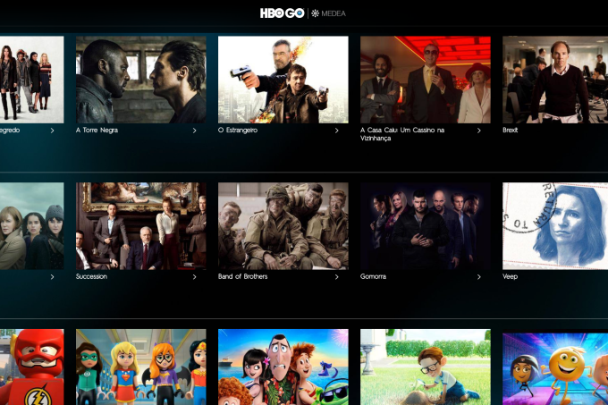 Interface da HBO GO