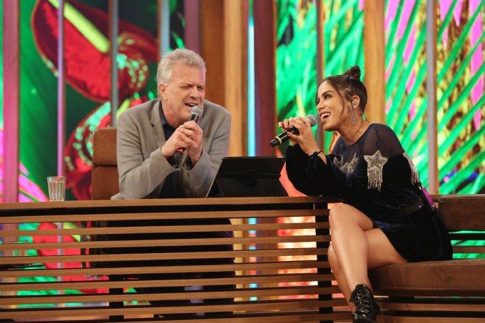 Pedro Bial e Anitta