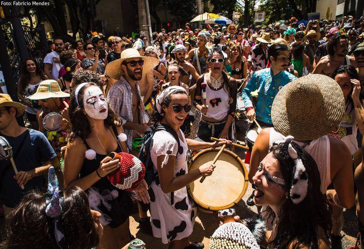 Imagem feita durante o bloco Mamá na Vaca - um dos mais famosos do Carnaval de Belo Horizonte