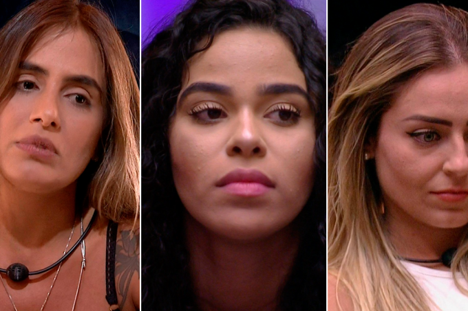 Carolina, Elana e Paula no paredão do BBB19