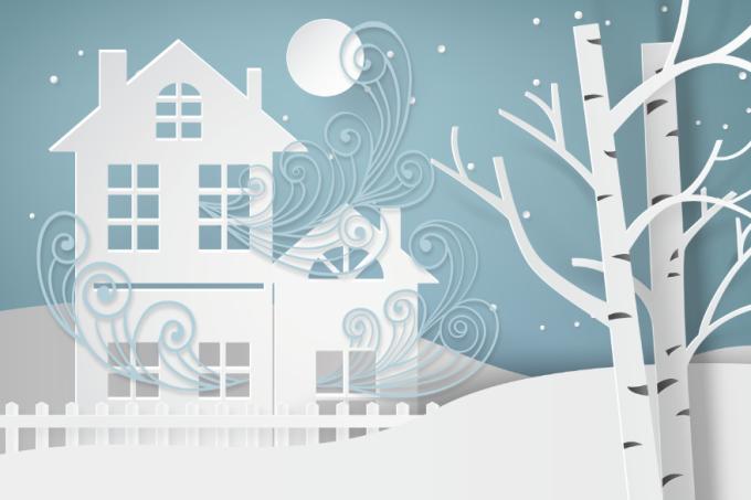 Casa à prova de doenças no inverno