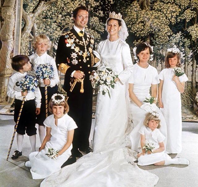 Casamento Rei Carl XVI Gustaf e Rainha Silvia da Suécia