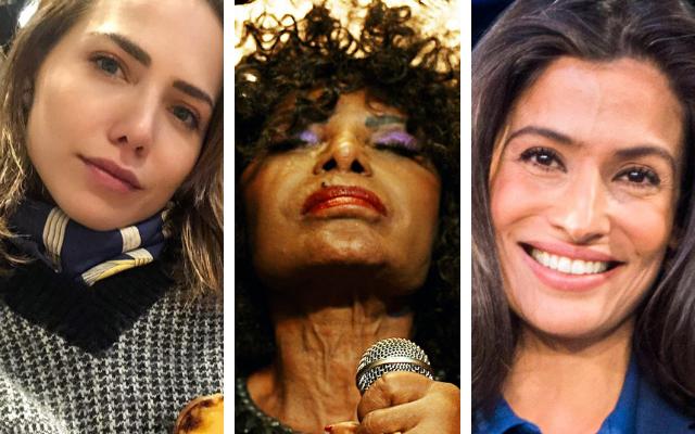 Letícia Colin, Elza Soares e Renata Vasconcellos