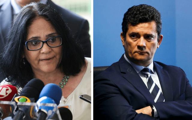 Damares Alves e Sérgio Moro
