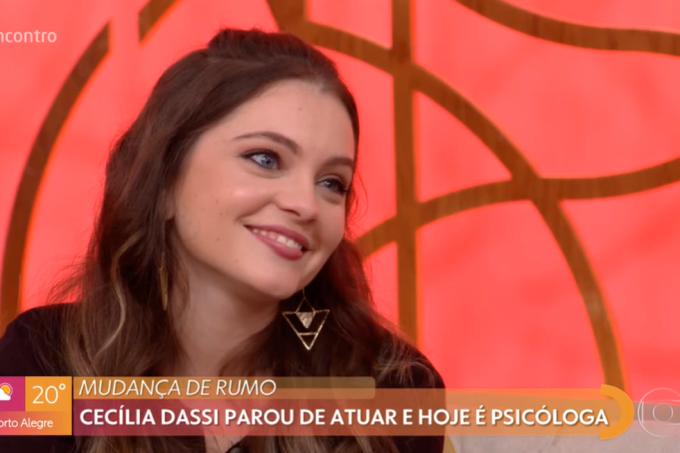 Cecilia Dassi no Encontro com Fátima fala sobre Por Amor