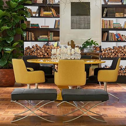 Decoração clássica, moderna e rústica na sala de jantar