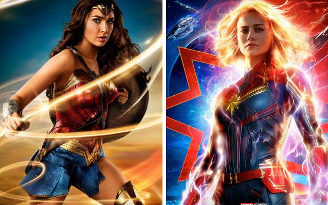 """Mulher-Maravilha"" e ""Capitã Marvel"""