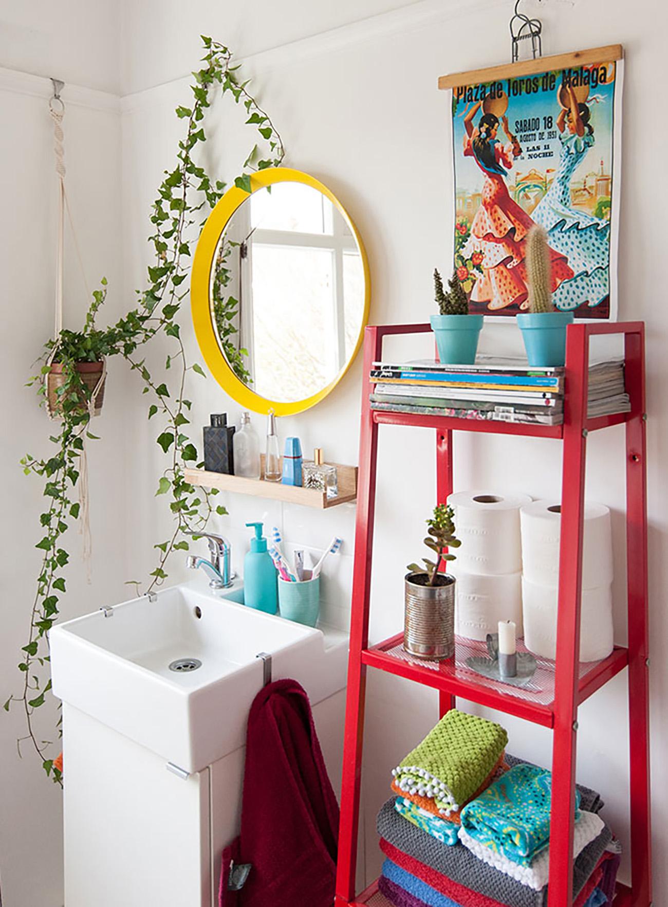 colocar cor em detalhes da decoração da sua casa - banheiro