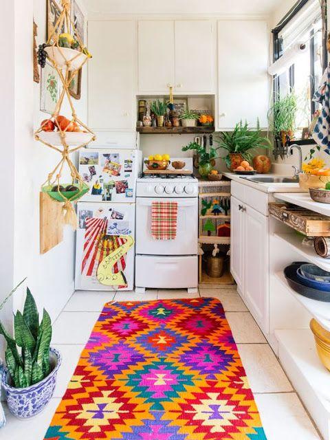 colocar cor em detalhes da decoração da sua casa - cozinha