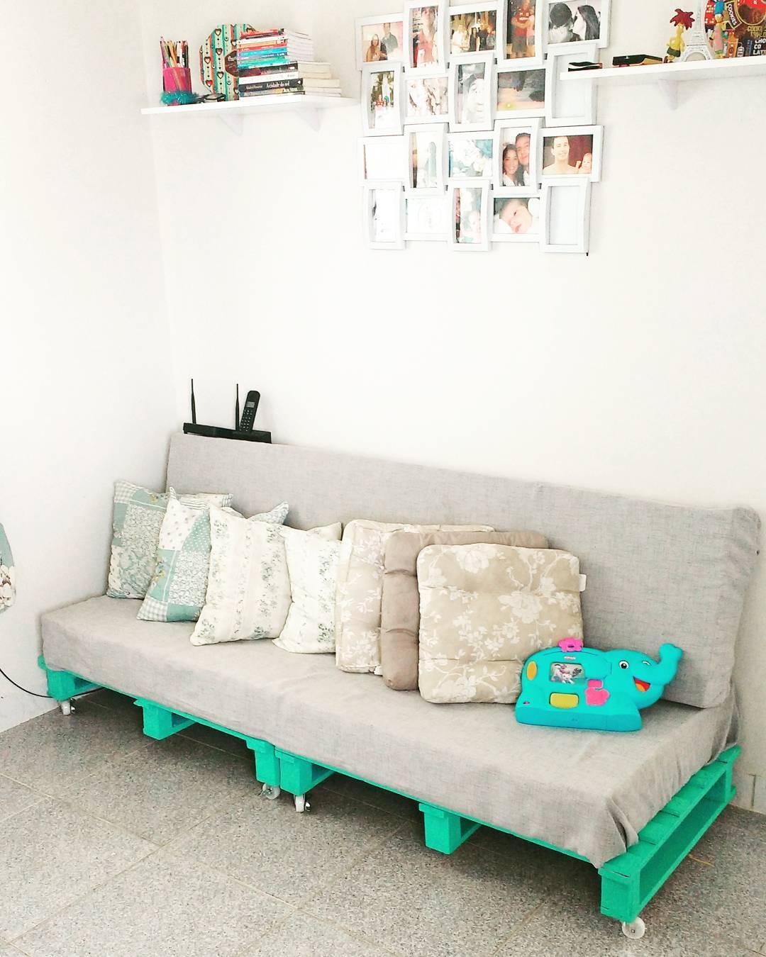 colocar cor em detalhes da decoração da sua casa - sala