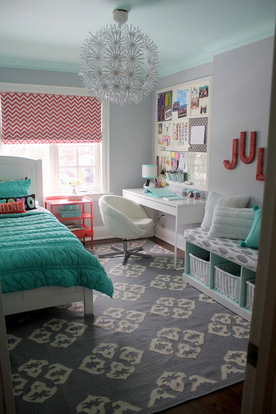 colocar cor em detalhes da decoração da sua casa - quarto