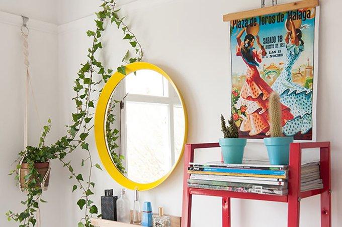 colocar cor em detalhes da decoração da sua casa