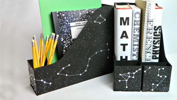 Porta livros organizador reciclagem