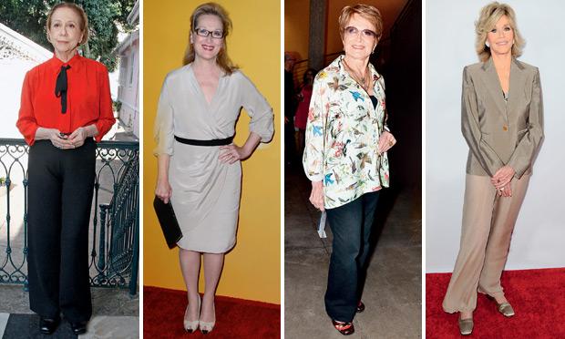 Caio Duran/Agnews (Glória Menezes) | Frazer Harrison/Getty Images/AFP (Meryl Streep) | Roberto Filho/Agnews (Fernanda Montenegro) | Sara De Boer/Startraks (Jane Fonda)