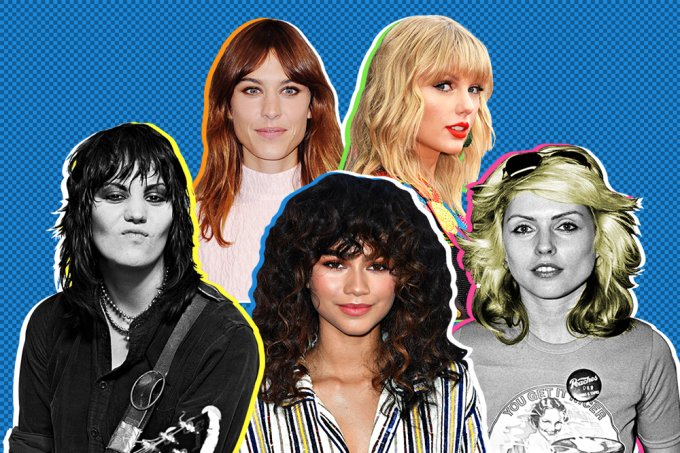 Joan Jett, Alexa Chung, Zendaya, Taylor Swift e Debbie Harry