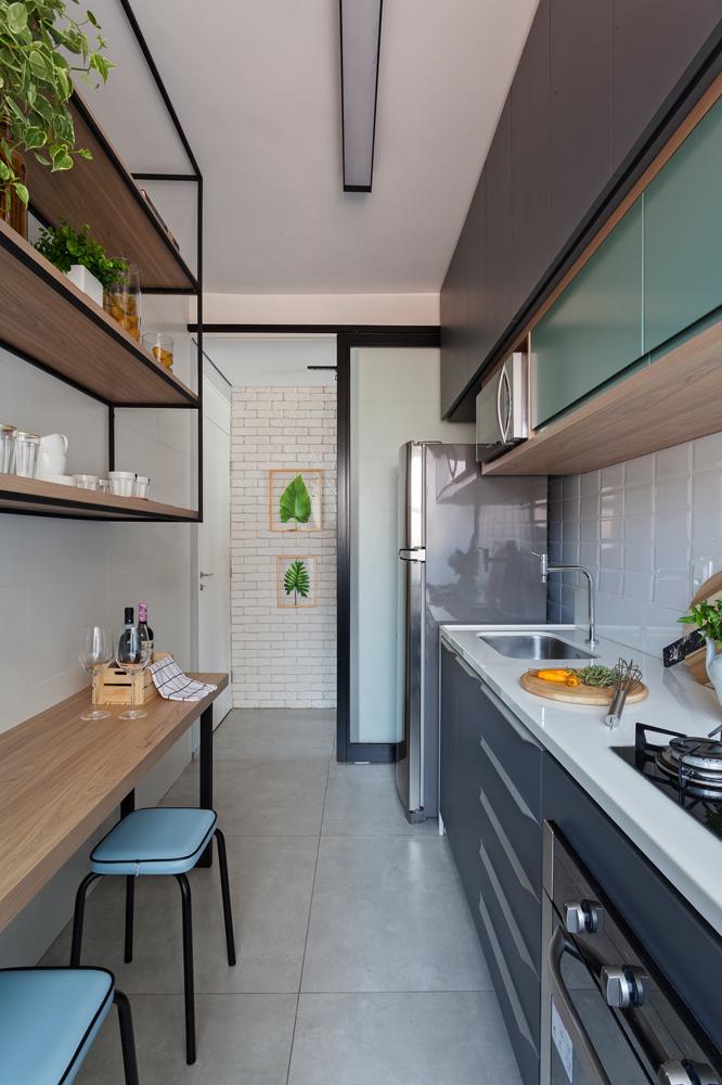 Antes e depois cozinha - Dois Quartos Arquitetura