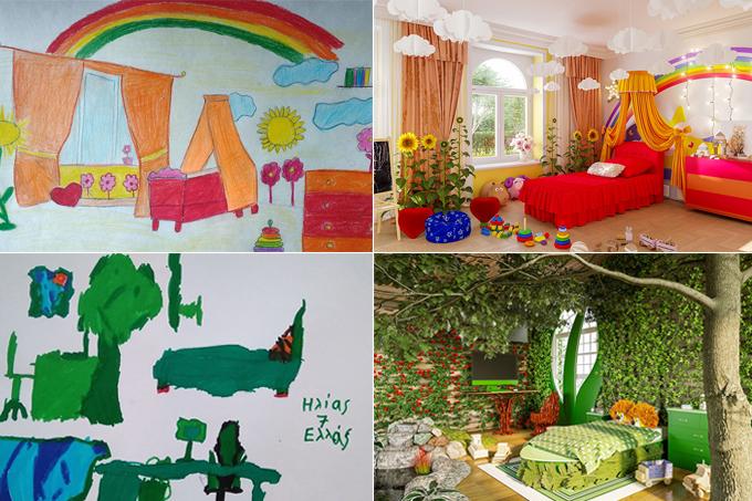 Crianças desenham seus quartos dos sonhos e profissionais os executam