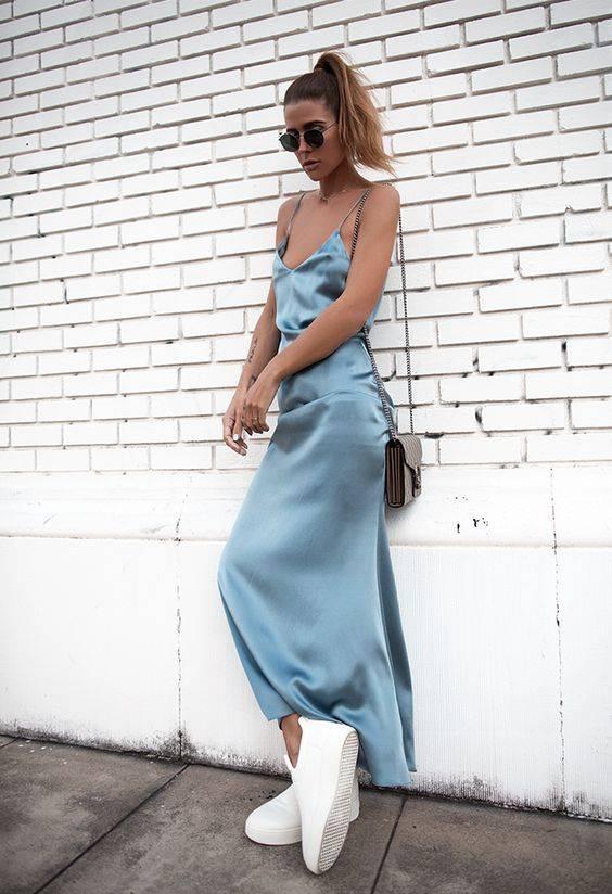 vestido azul clarinho