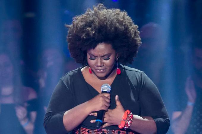 A cantora Damiana Sadili no The Voice Brasil 2018