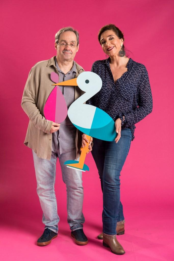 Daniel Dantas e Marisa Orth na série Pais de Primeira