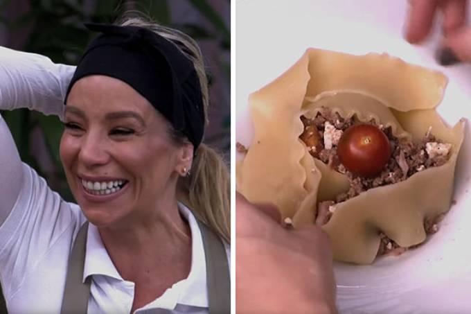 Danielle Winits e sua lasanha no Super Chef Celebridades