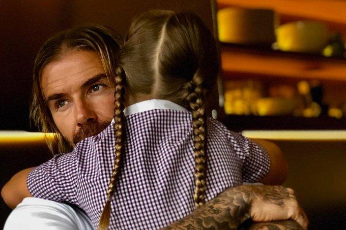 David Beckham e Harper