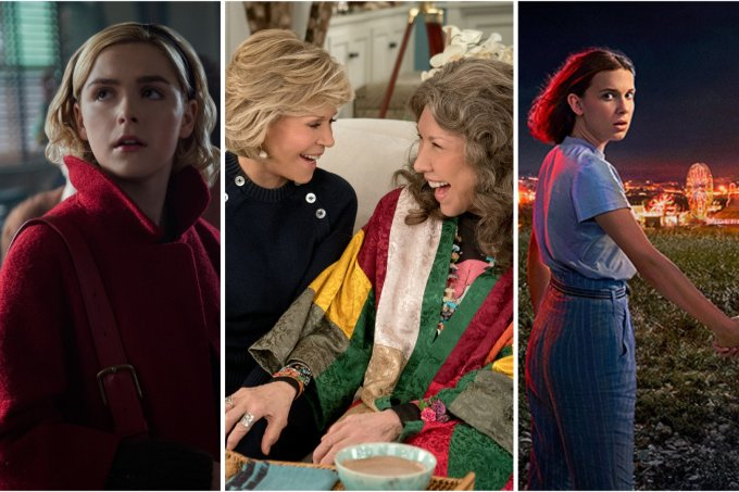O Mundo Sombrio de Sabrina, Grace and Frankie e Stranger Things