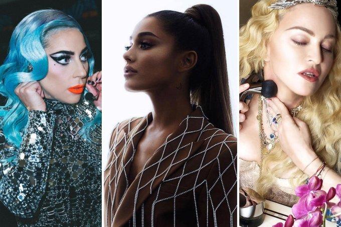 Lady Gaga, Ariana Grande e Madonna