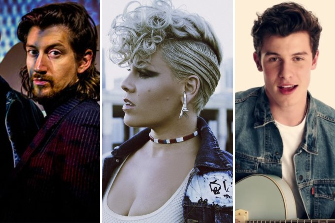 Alex Turner, P!nk e Shawn Mendes