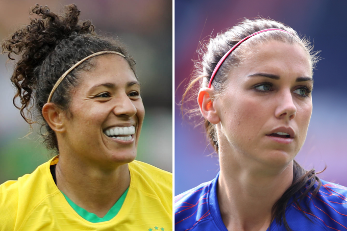 Cristiane e Alex Morgan