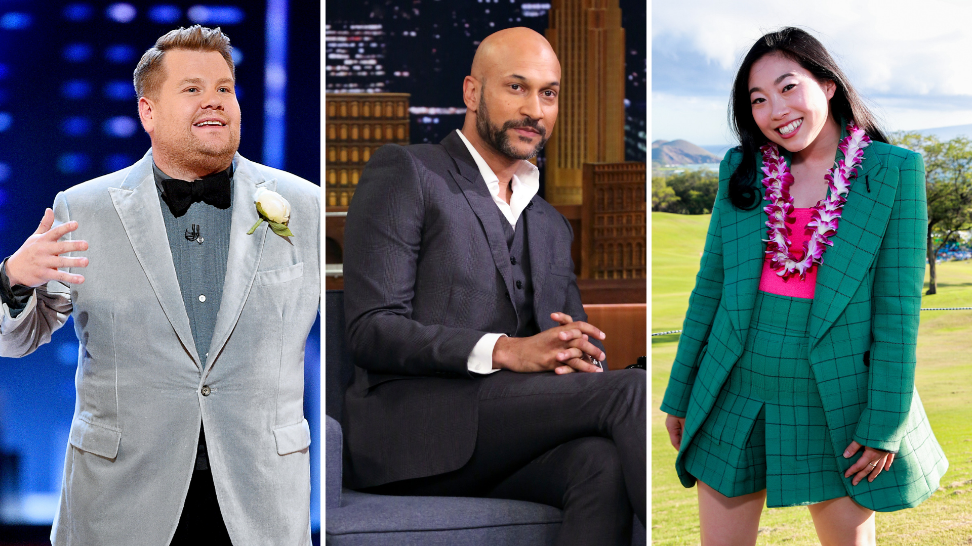 James Corden, Keegan-Michael Key e Awkwafina
