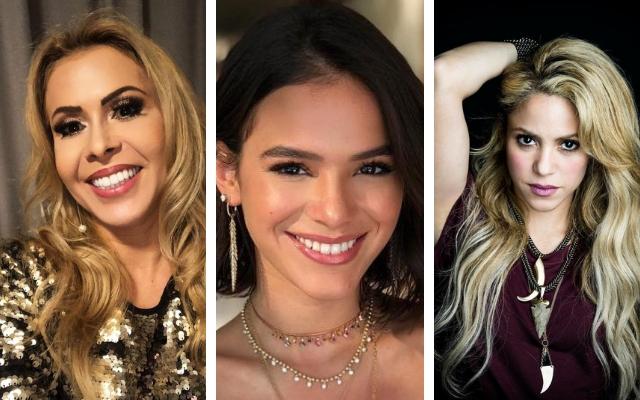 Joelma, Bruna Marquezine e Shakira