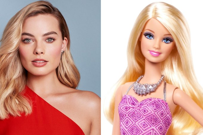 Margot Robbie e Barbie