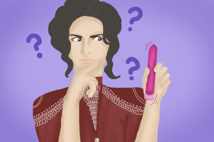Mulher-confusa-sobre-o-vibrador-pela-história-sobre-o-brinquedo-sexual