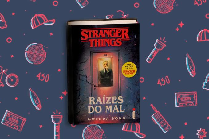 Livro 'Raízes do Mal', de Stranger Things.