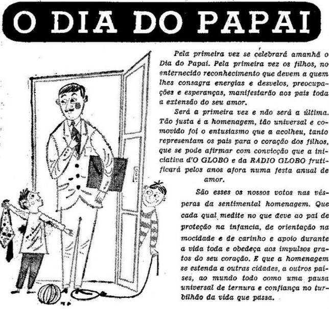 Dia do Papai O Globo