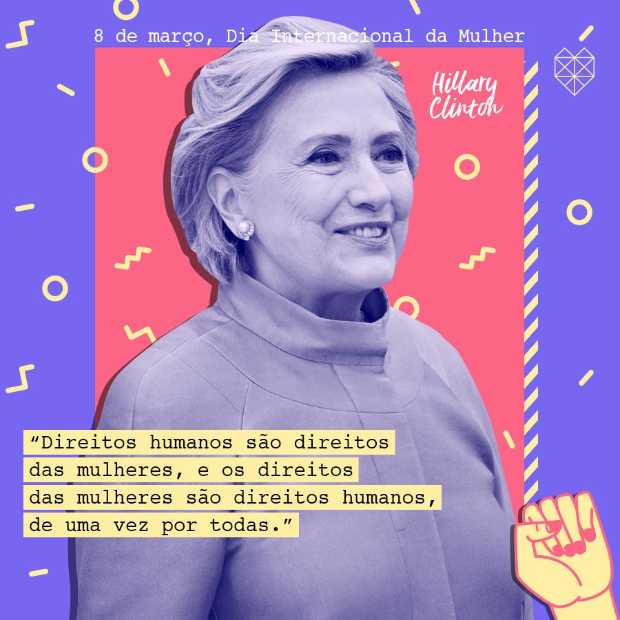 dia internacional da mulher mensagem inspiradora hillary clinton