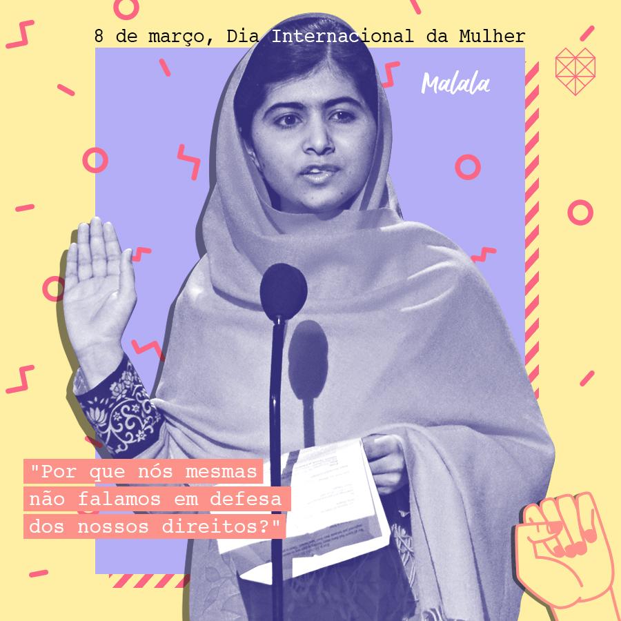 dia internacional da mulher mensagem inspiradora malala yousafzai