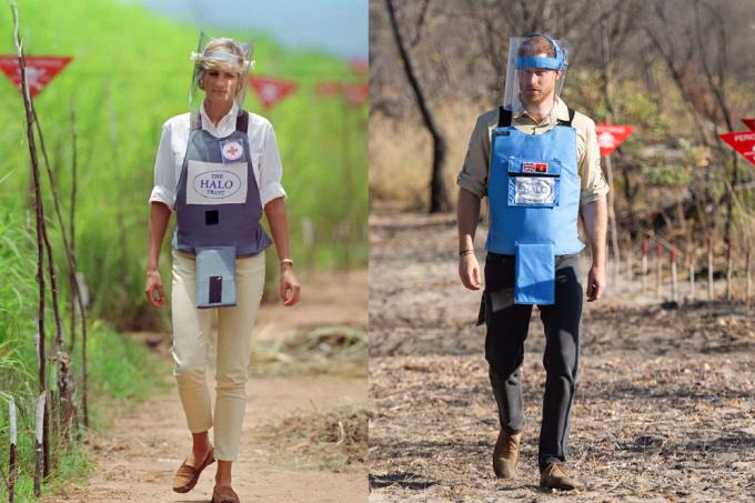 Diana e Harry em Angola