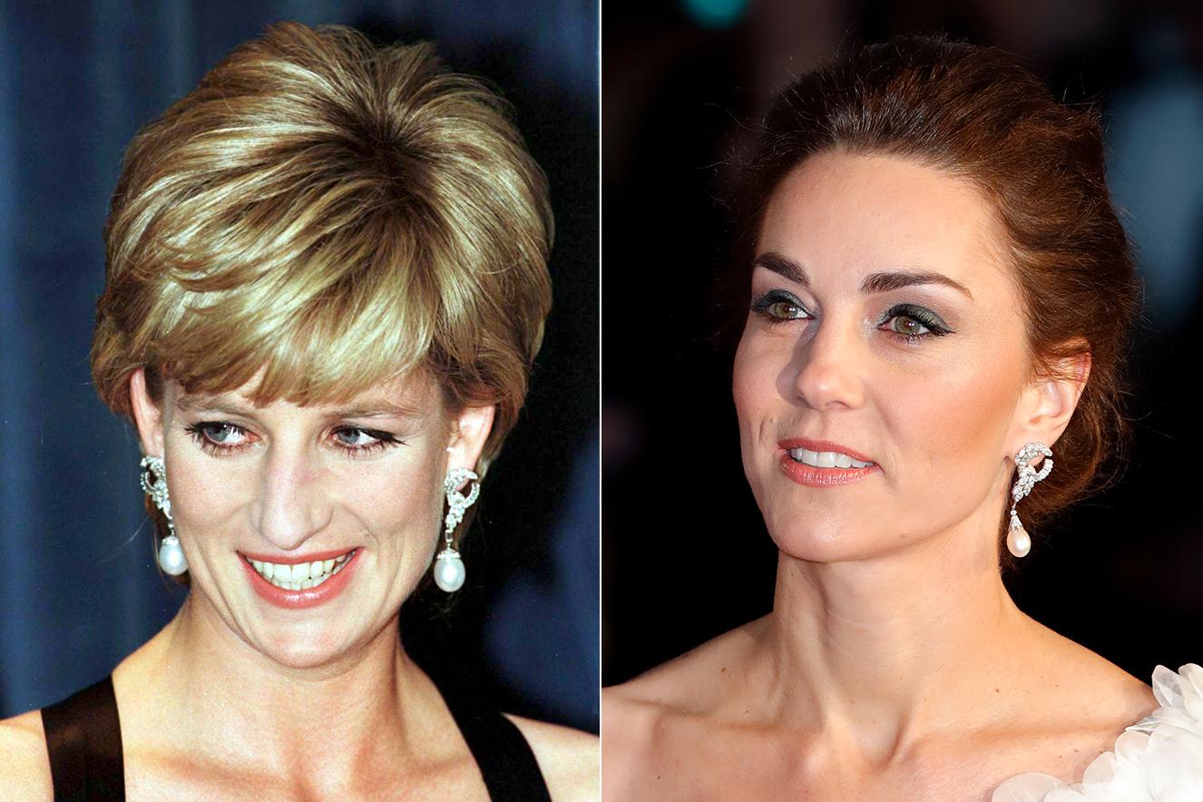 Princesa Diana e Kate Middleton