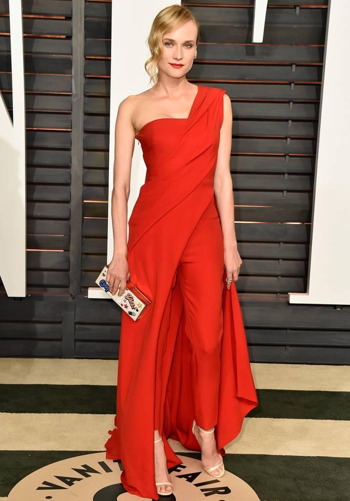 Diane Kruger Veste Donna Karan Atelier.