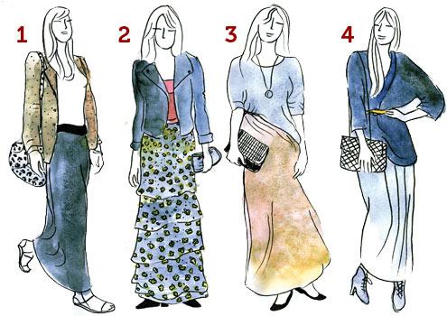 Dicas para usar saia longa